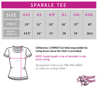Action Athletics Bling Sparkle Tee with Rhinestone Logo