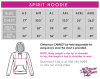 Shore Thunder Starz Cheer and Dance Spirit Hoodie with Rhinestone Logo