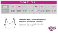 Adirondack Dance Company Sports Bra with Rhinestone Logo