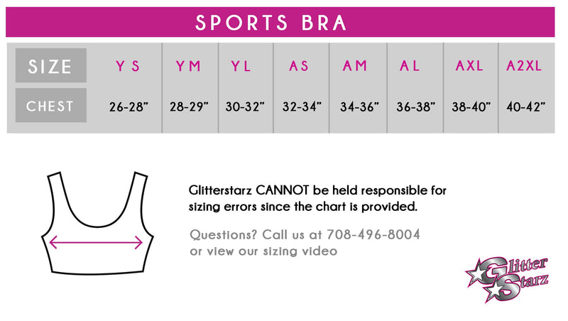 c43aabd846185 Cheer Legend Champions Sports Bra with Rhinestone Logo - Glitterstarz