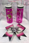 GlitterStarz Fashion Bling Valentine's Flash Sale Bundle Waterbottle and Bow
