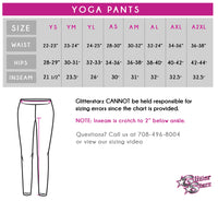 AMKM Bling Rollover Yoga Pants with Rhinestone Logo