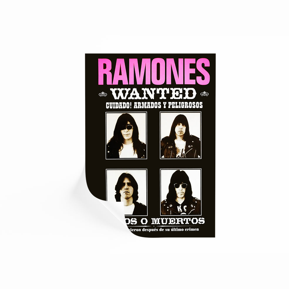 Ramones Wanted Poster School Of Rock
