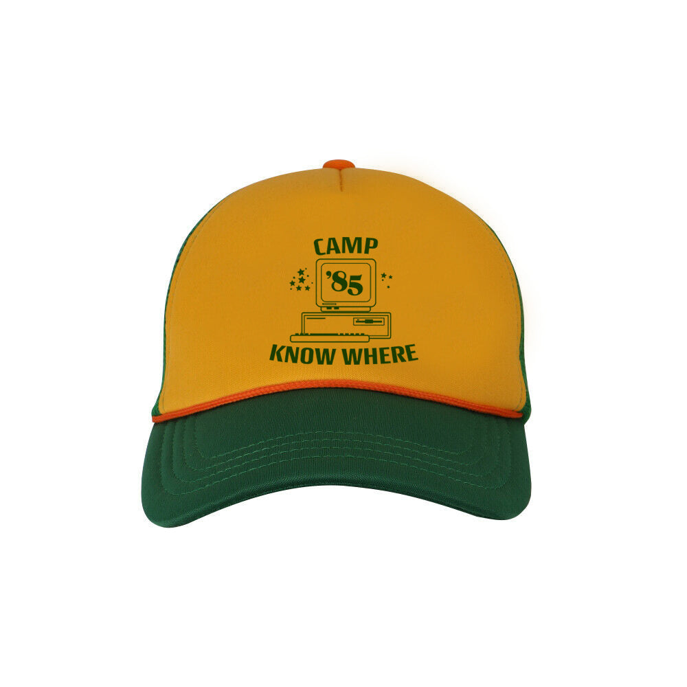 Camp Know Where Trucker Hat Stranger Things