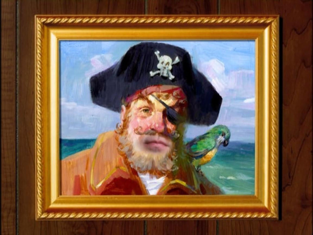 SpongeBob Painty The Pirate Painting Canvas SpongeBob SquarePants - Replica Prop Store