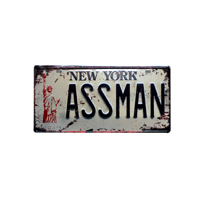 Assman License Plate Seinfeld