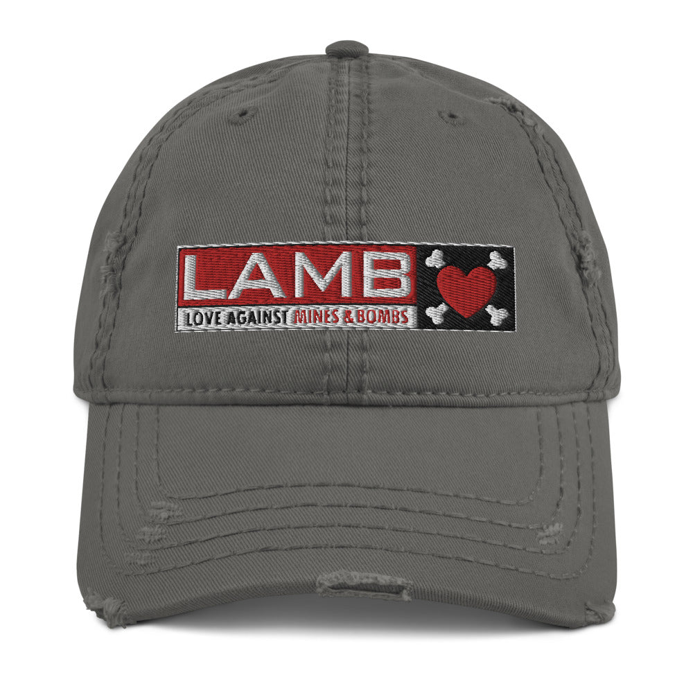 LAMB Distressed Dad Hat Da 5 Bloods
