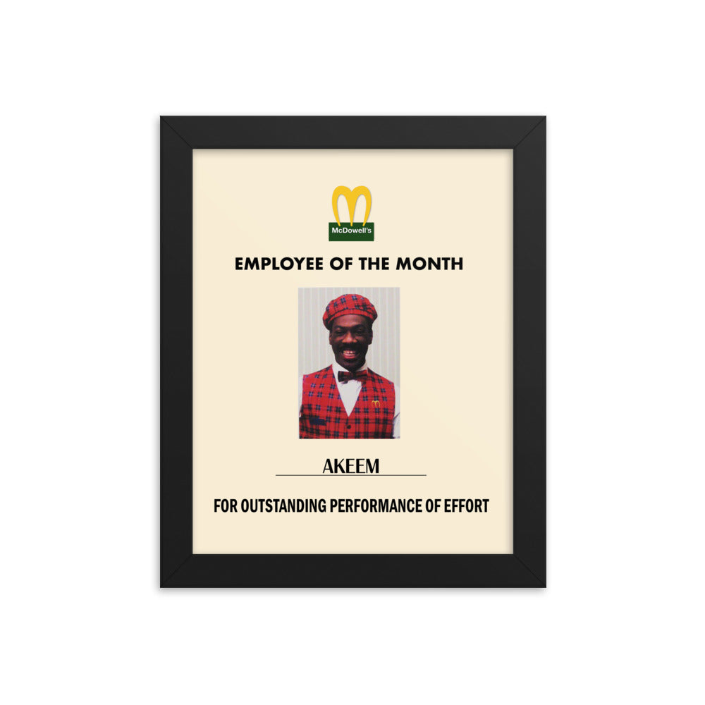 Akeem Employee of The Month Framed Poster Coming To America