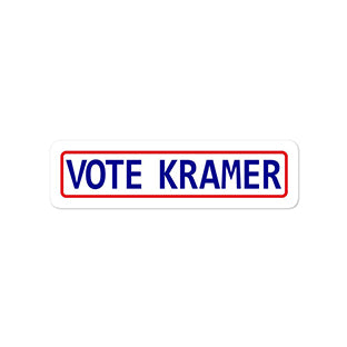 Vote Kramer Bumper Sticker