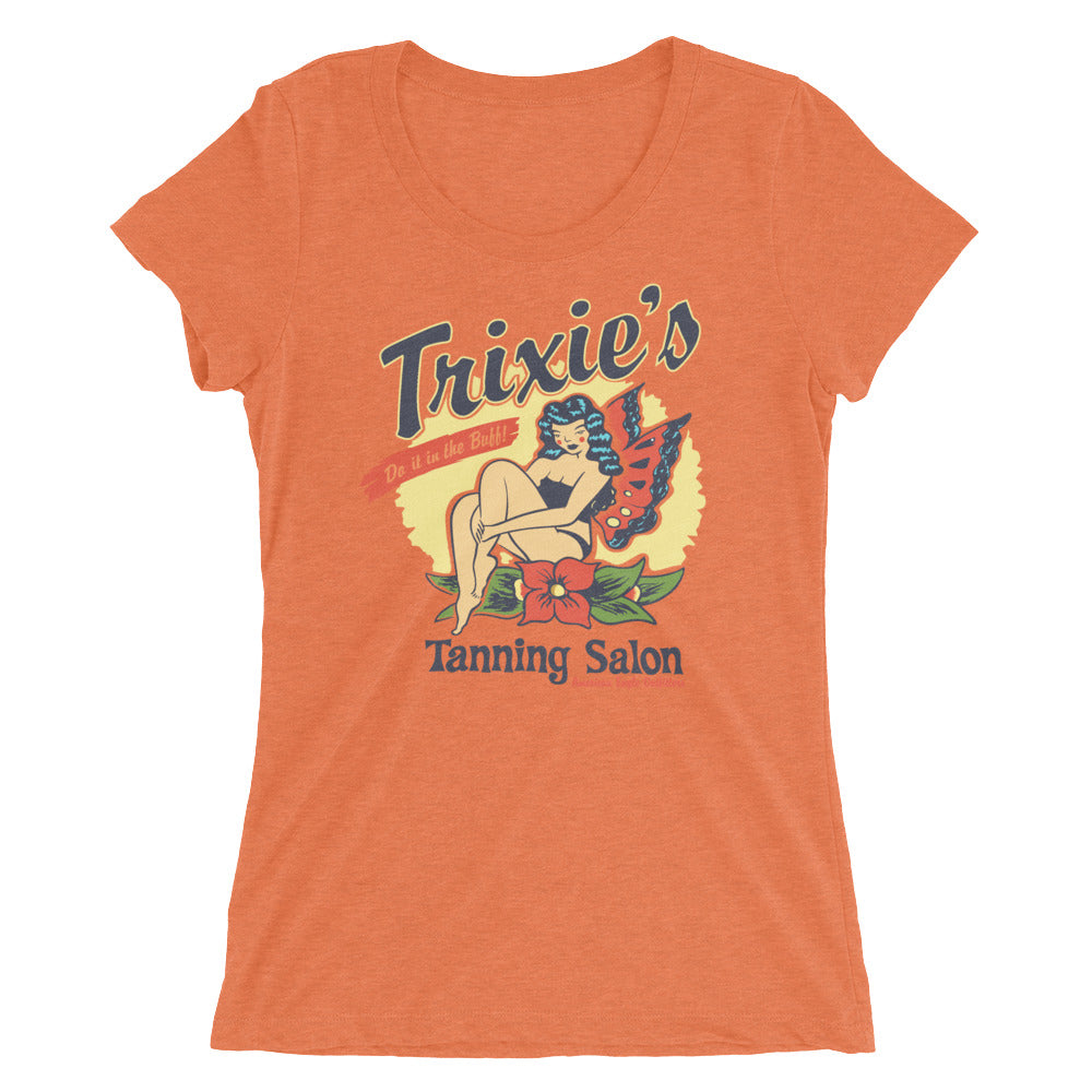Trixie's Tanning Salon Ladies T-hirt