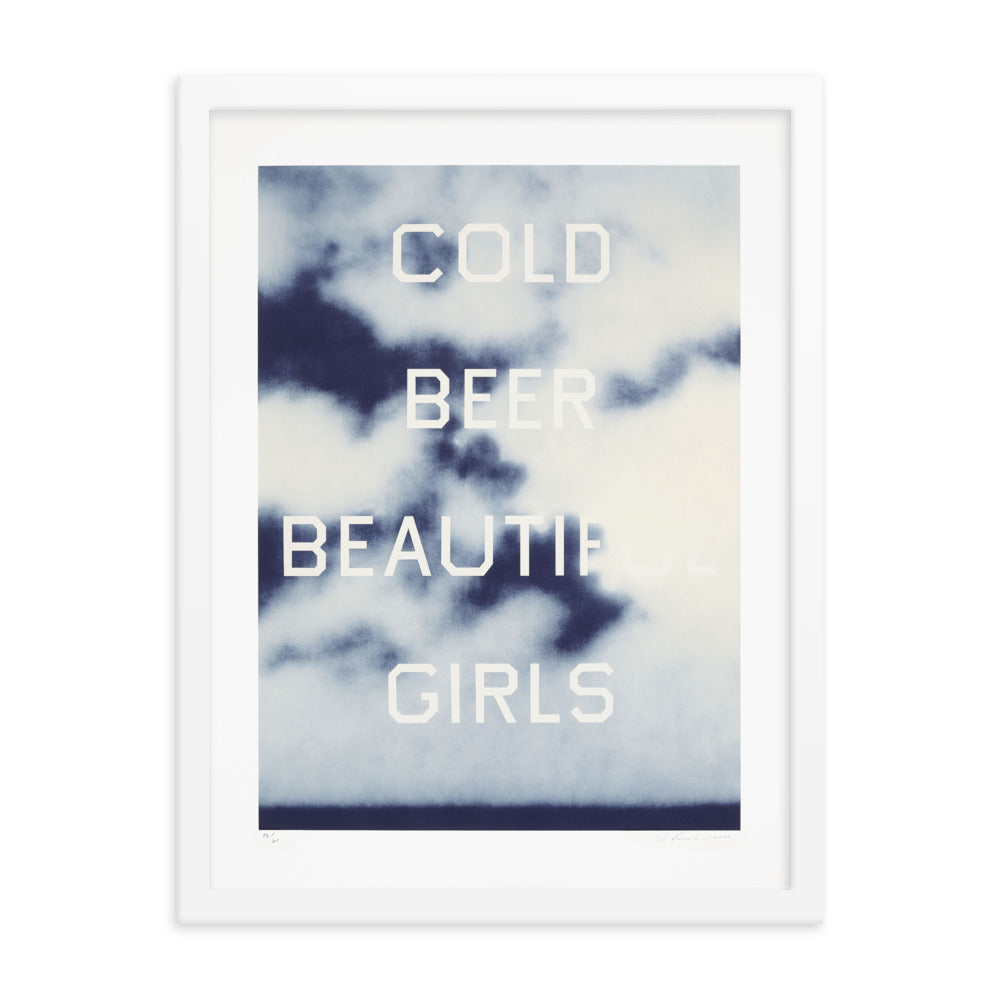 Cold Beer Beautiful Girls Framed Poster
