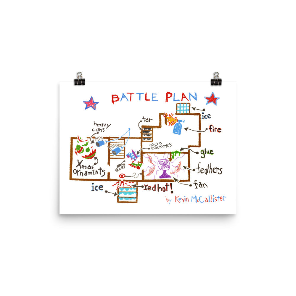 Battle Plan Poster Home Alone