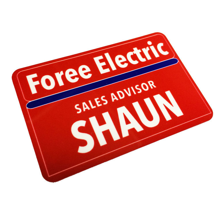 Shaun Foree Electric Name Badge Shaun of the Dead - Replica Prop Store