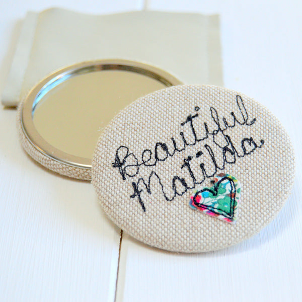 Personalised Beautiful Mirror - Handmade Poshyarns