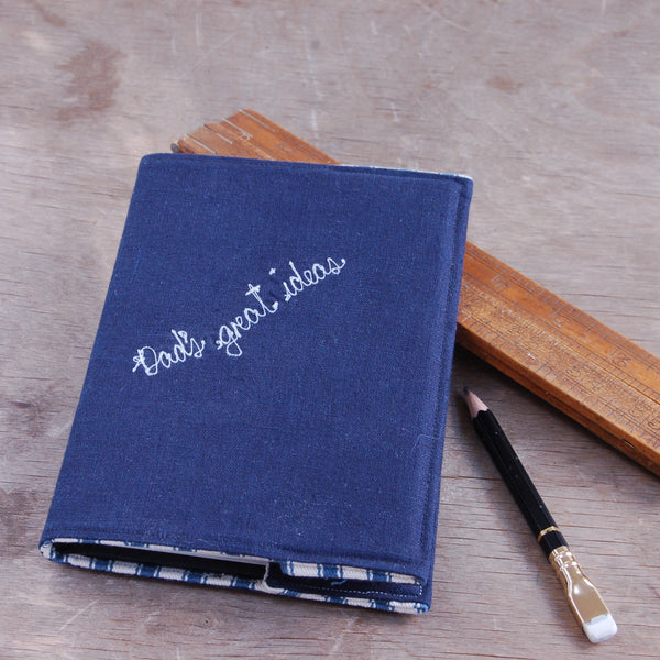 Personalised Dad's Great Ideas Notebook - Handmade Poshyarns
