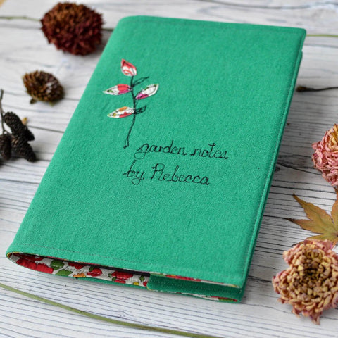 Personalised Linen 'Garden Notes by' journal for gardener