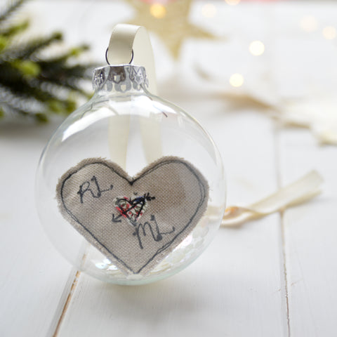 personalised bauble for couple