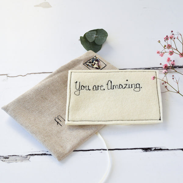 Personalised Love Note - Handmade Poshyarns