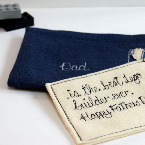 Personalised Letter to Dad - Handmade Poshyarns