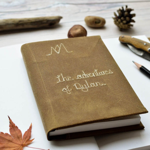 Personalised 'Adventures of' Journal - Handmade Poshyarns
