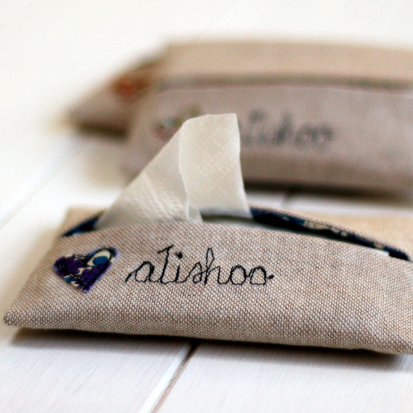 Atishoo Tissue Holder - Handmade Poshyarns