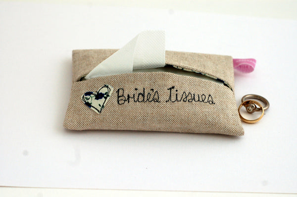 Bride's Tissue Holder - Handmade Poshyarns