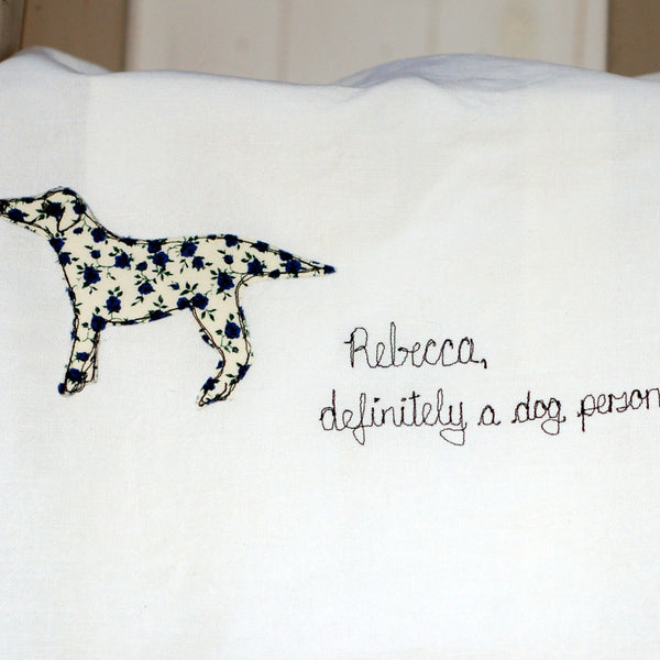 Tea Towel For Dog Lovers - Handmade Poshyarns