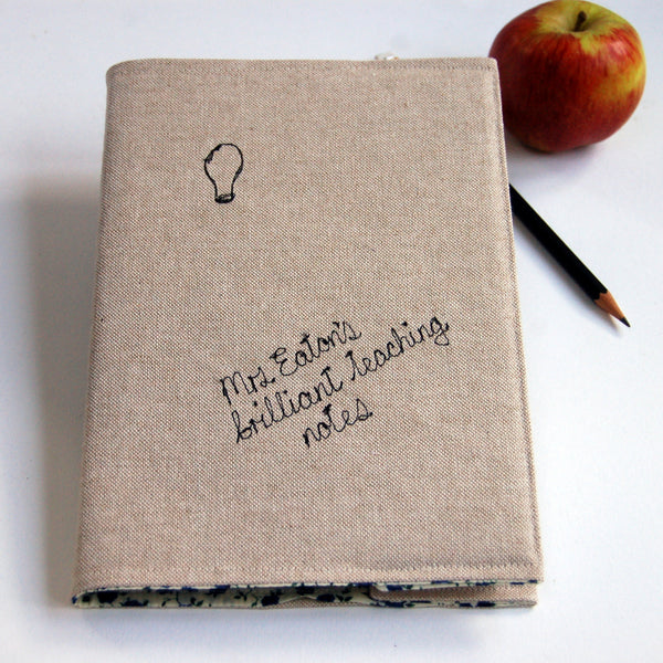 Teacher's Brilliant Ideas Notebook - Handmade Poshyarns