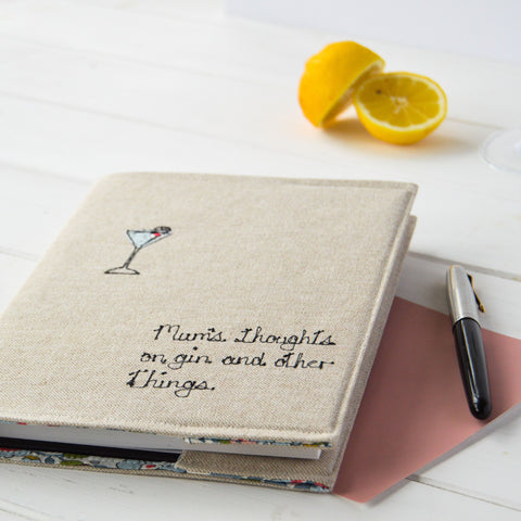 notebook gift for gin lovers