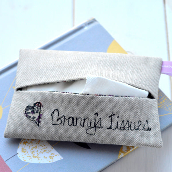 Grandmother's Tissue Holder - Handmade Poshyarns