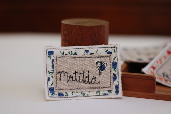 Embroidered Name Badge - Handmade Poshyarns