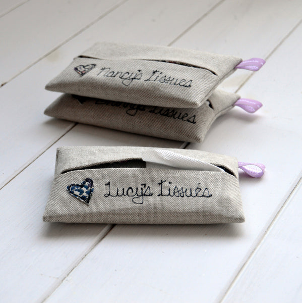 Personalised Tissue Holder - Handmade Poshyarns