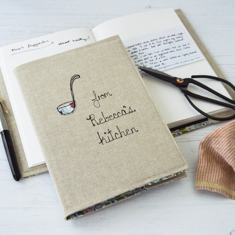 Personalised Recipe Journal - Handmade Poshyarns