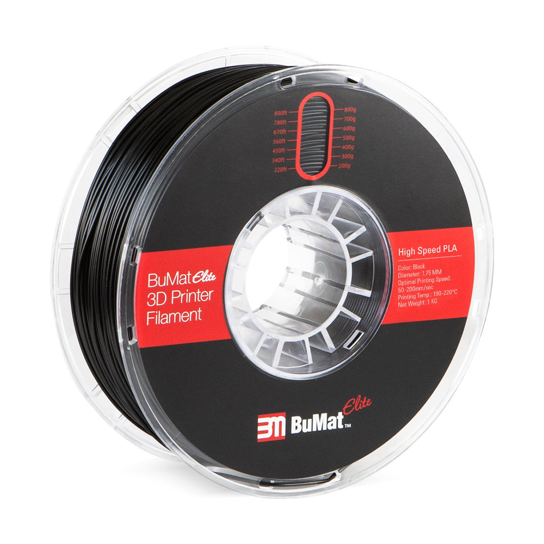 BuMat Elite High Speed PLA Filament - 1.75 MM - 3D Brain Lab
