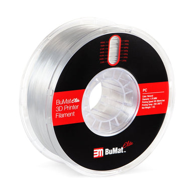 BuMat Elite Polycarbonate (PC) Filament - Natural Color - 1.75 MM - 3D Brain Lab