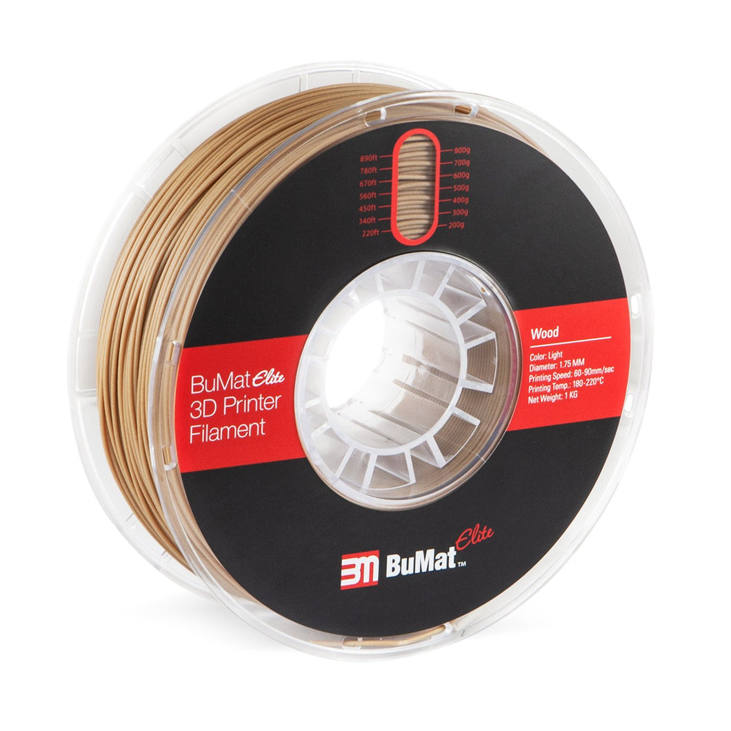 BuMat Elite Wood Filament - 1.75 MM - 3D Brain Lab