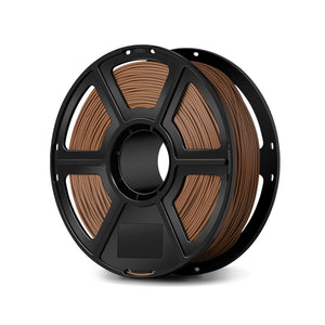 FlashForge Wood Filament -1.75 MM Compatible with Creator and Guider II series and all other 1.75 mm 3D Printer Brands - 3D Brain Lab