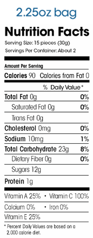 Welchs Fruit Snack Nutrition Facts