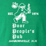 "Poor People's Pub 1974 ""First Design"" T-Shirt in Heather Irish Green"