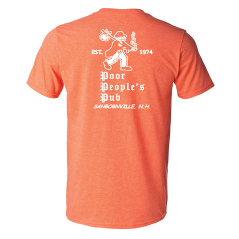 "People's Pub 1974 ""First Design"" T-Shirt in Heather Orange"