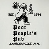 "Poor People's Pub 1974 ""First Design"" T-Shirt in White"