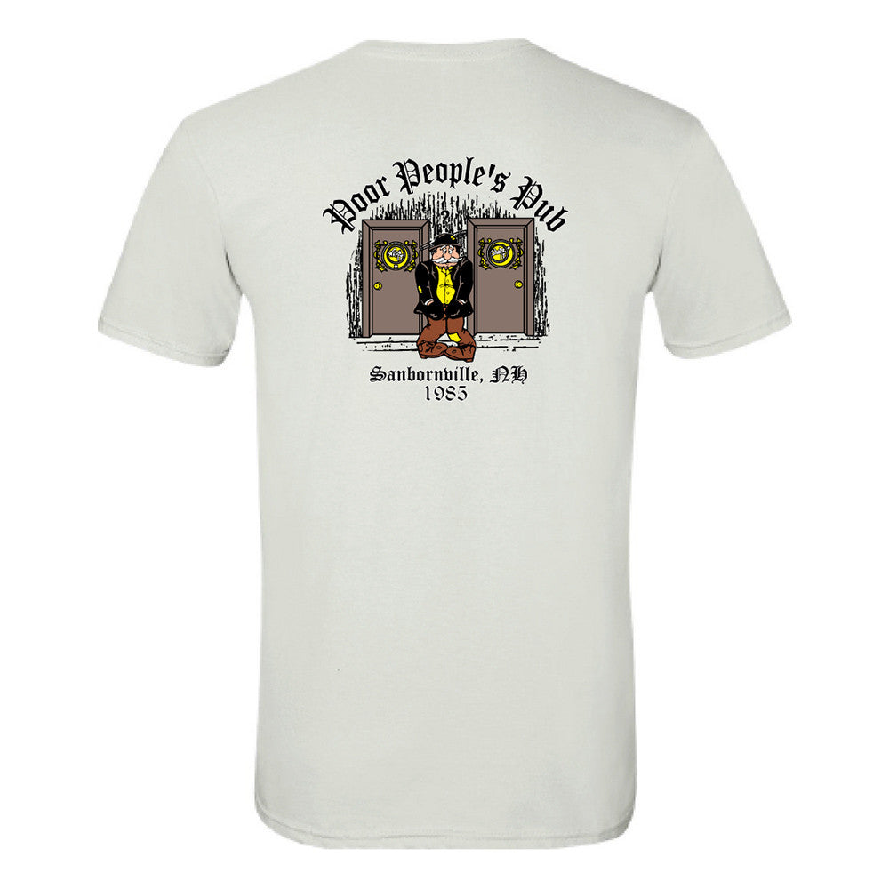 "Poor People's Pub 1985 ""Wipe It, Shake It"" T-Shirt in White"