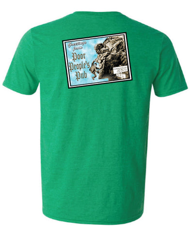 "Poor People's Pub 2004 ""Old Man"" T-Shirt in Heather Irish Green"