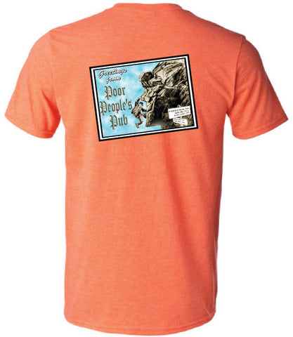 "People's Pub 2004 ""Old Man"" T-Shirt in Heather Orange"