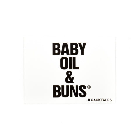 Baby Oil & Buns Sticker