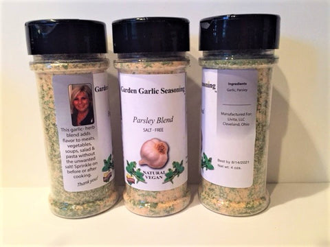 Garden Garlic Seasoning brand 'Parsley Blend Salt-Free / free shipping extended through January