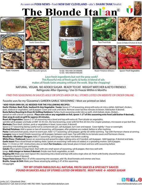Garden Garlic Seasoning Flyer