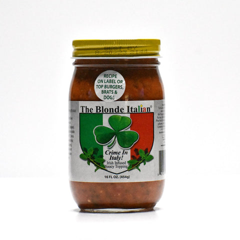 Crime in Italy Saucy Topping - 16oz, 2 JAR SET/ Shipping Included
