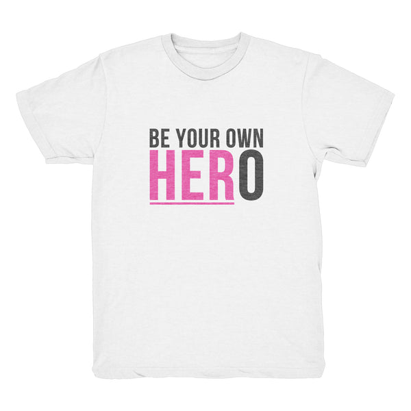 BE YOUR OWN HERO T-Shirt (Youth - White)