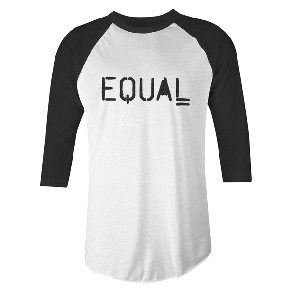 EQUAL Raglan Tee (White/Charcoal)